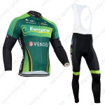2014 Team Europcar Cycling Long Bib Kit Green