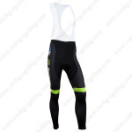 2014 Team Europcar Cycling Long Bib Pants Green Black