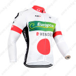 2014 Team Europcar Cycling Long Bib Kit White Red