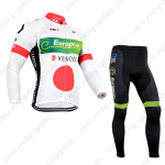 2014 Team Europcar Cycling Long Kit White Red