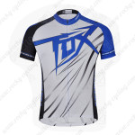 2014 Team FOX Cycling Jersey White Blue