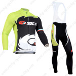 2014 Team SIDI Riding Long Bib Kit Green Black