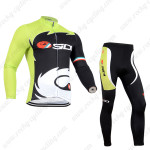 2014 Team SIDI Riding Long Kit Green Black