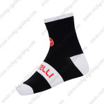 2015 Team Castelli Cycling Socks Black White