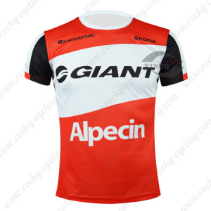 2015 Team GIANT Alpecin Cycling Outdoor Sport Apparel Sweatshirt Round Neck T-shirt Red White