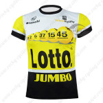 2015 Team LOTTO JUMBO Cycling Outdoor Sport Apparel Sweatshirt Round Neck T-shirt Yellow