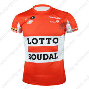 2015 Team LOTTO SOUDAL Cycling Outdoor Sport Apparel Sweatshirt Round Neck T-shirt Red