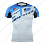 2015 Team SIDI Cycling Outdoor Sport Apparel Sweatshirt Round Neck T-shirt Blue White