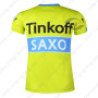 2015 Team Tinkoff SAXO BANK Riding Outdoor Sport Outfit Sweatshirt Round Neck T-shirt Yellow Blue