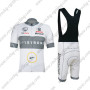 2012 Team LIVESTRONG Biking Bib Kit White Grey
