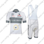 2012 Team LIVESTRONG Cycling Bib Kit White Grey