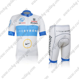 2012 Team LIVESTRONG Cycling Kit White Blue
