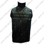 2012 Team LIVESTRONG Cycling Vest Sleeveless Waistcoat Rain-proof Windbreak Black
