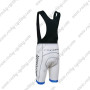 2012 Team LIVESTRONG Racing Bib Shorts White Blue