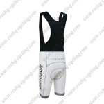2012 Team LIVESTRONG Racing Bib Shorts White Grey