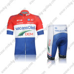 2012 Team Vacansoleil DCM Cycling Kit Red White Blue