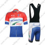 2012 Team Vacansoleil DCM Riding Bib Kit Red White Blue
