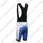 2012 Team Vacansoleil DCM Riding Bib Shorts White Blue