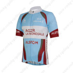 2013 Team AG2R LA MONDIALE ALSOM Cycling Jersey Blue Red