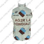 2013 Team AG2R LA MONDIALE Cycling Vest Sleeveless Waistcoat Rain-proof Windbreak White