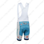 2013 Team ASTANA Cycling Bib Shorts White Blue