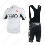 2013 Team AUDI Riding Bib Kit White