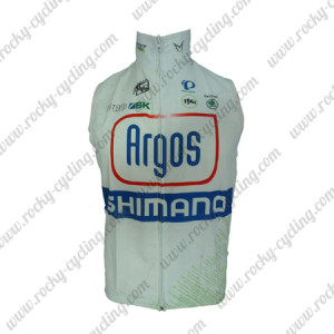 2013 Team Argos SHIMANO Cycling Vest Sleeveless Waistcoat Rain-proof Windbreak White