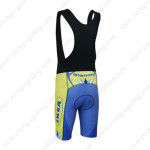 2013 Team Bianchi Biking Bib Shorts Blue Yellow