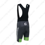 2013 Team Cannondale Bicycle Bib Shorts White Black Green