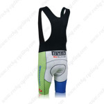 2013 Team Cannondale Biking Bib Shorts Blue White Green