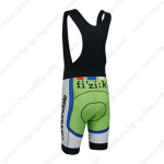 2013 Team Cannondale SUGOI Biking Bib Shorts Green Red Blue