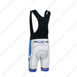 2013 Team FDJ Riding Bib Shorts White