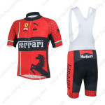 2013 Team FERRARI Cycling Bib Kit Red Black