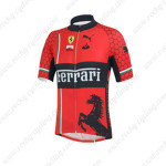 2013 Team FERRARI Cycling Jersey Red Black
