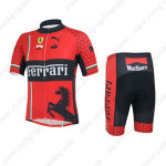 2013 Team FERRARI Cycling Kit Red Black
