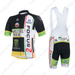 2013 Team FOCUS Cycling Bib Kit Black White