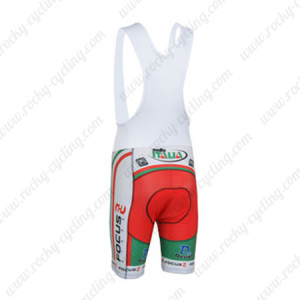 2013 Team FOCUS Cycling Bib Shorts Green Red