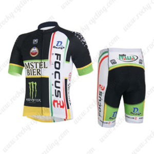 2013 Team FOCUS Cycling Kit Black White
