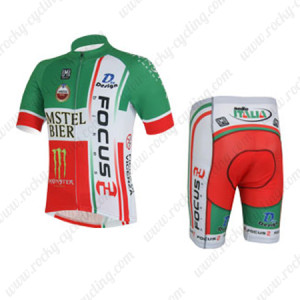 2013 Team FOCUS Cycling Kit Green Red