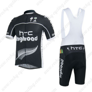 2013 Team HTC highroad Cycling Bib Kit Black