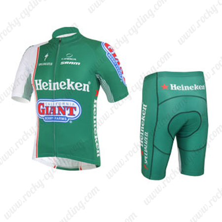 ... Riding Outfit Summer Winter Cycle Jersey and Padded Shorts Pants Green. 2013  Team H GIANT Cycling Kit Green 0307a4414