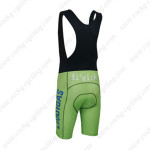 2013 Team LIQUIGAS SAXO BANK Biking Bib Shorts Green