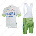 2013 Team LIQUIGAS SAXO BANK Cycling Bib Kit White Green