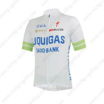 2013 Team LIQUIGAS SAXO BANK Cycling Jersey White Green