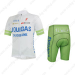 2013 Team LIQUIGAS SAXO BANK Cycling Kit White Green