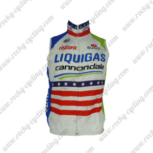 2013 Team LIQUIGAS cannondale Cycling Vest Sleeveless Waistcoat Rain-proof Windbreak