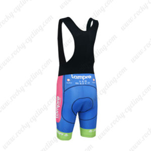 2013 Team Lampre MERIDA Riding Bib Shorts Pink Blue