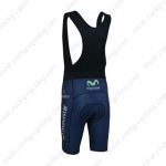 2013 Team Movistar Biking Bib Shorts Dark Blue