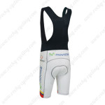 2013 Team Movistar Biking Bib Shorts White Colorful lines