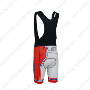 2013 Team PINARELLO Riding Bib Shorts White Red Blue